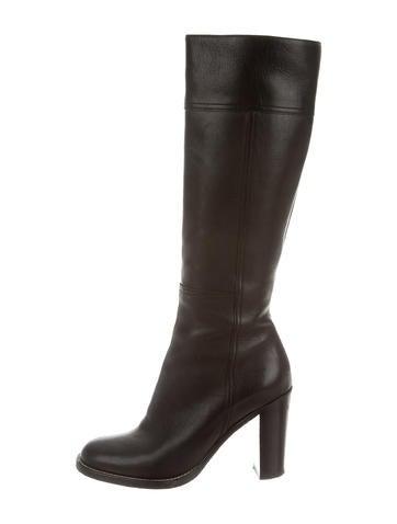 Miu Miu Tall Round-Toe Boots