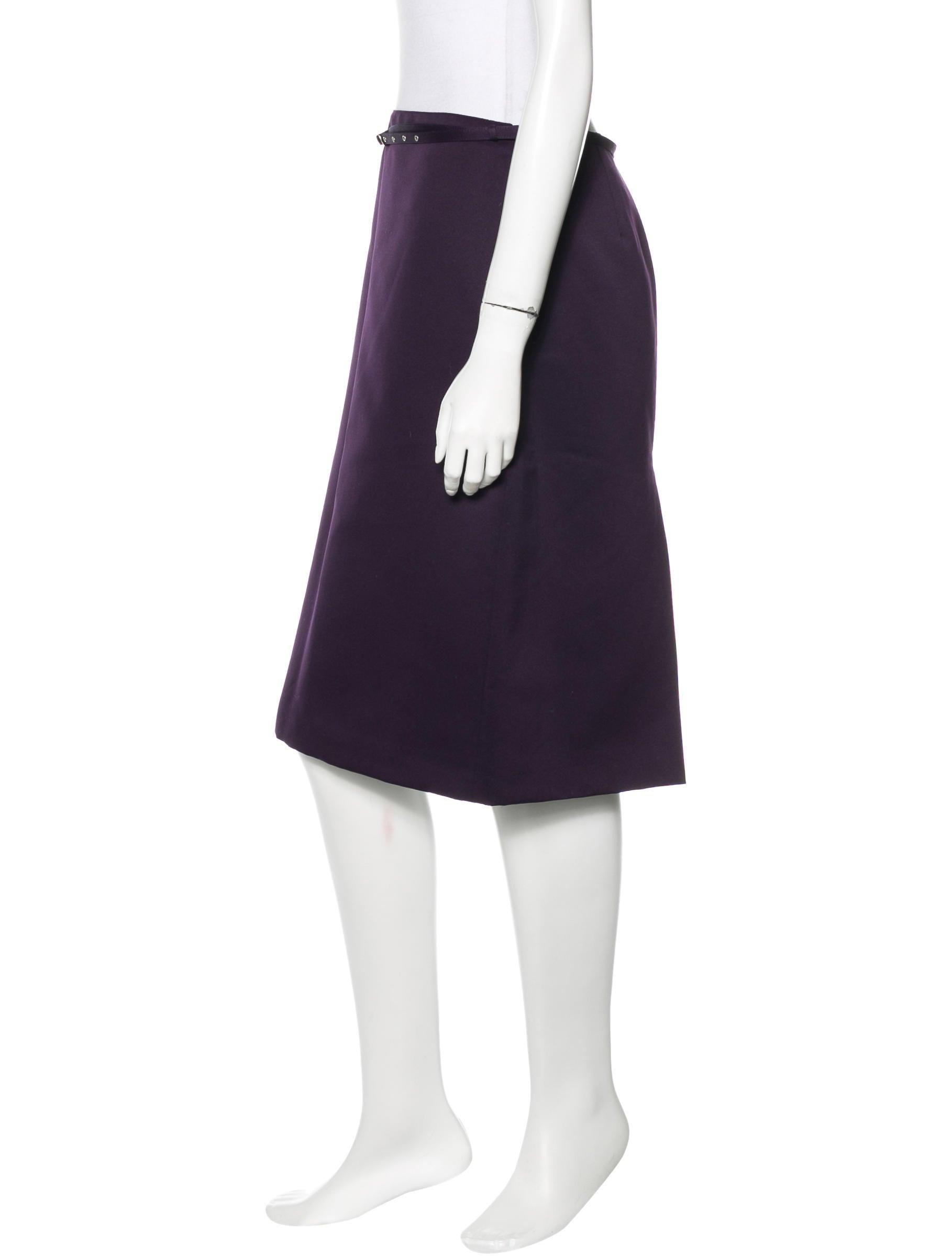 miu miu belted pencil skirt clothing miu42793 the