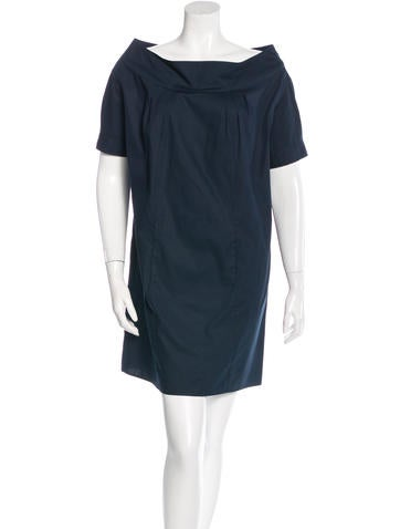 Miu Miu Short Sleeve Tent Dress None