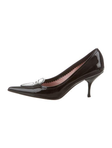 Miu Miu Patent Leather Pointed-Toe Pumps