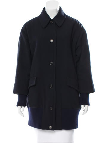Miu Miu Wool Cocoon Jacket None
