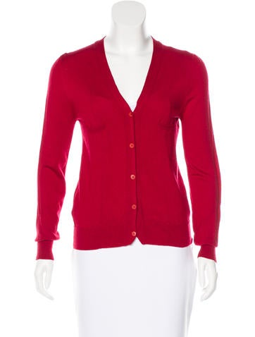 Miu Miu Wool V-Neck Cardigan None