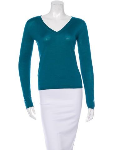 Miu Miu Cashmere & Silk-Blend Sweater None