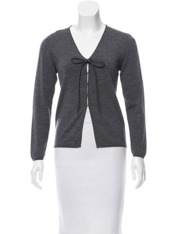 Miu Miu Long Sleeve Wool Cardigan None