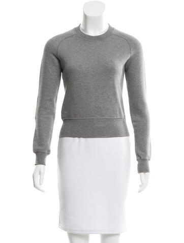 Miu Miu Rib Knit Cropped Sweatshirt None