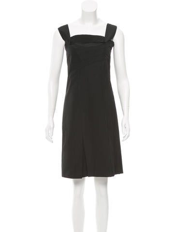 Miu Miu Pleated Sleeveless Dress