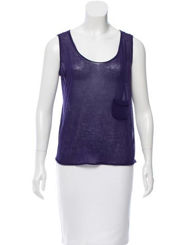 Miu Miu Sleeveless Scoop Neck Top None