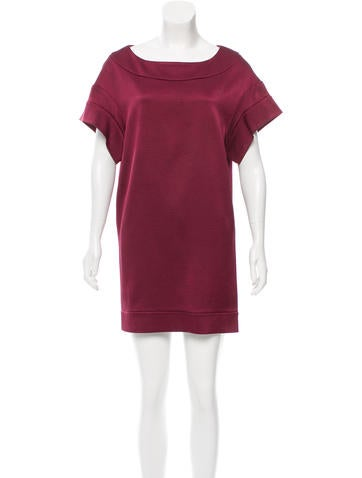 Miu Miu Silk Rib Knit Dress None
