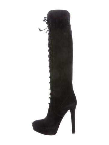 Miu Miu Suede Lace-Up Boots