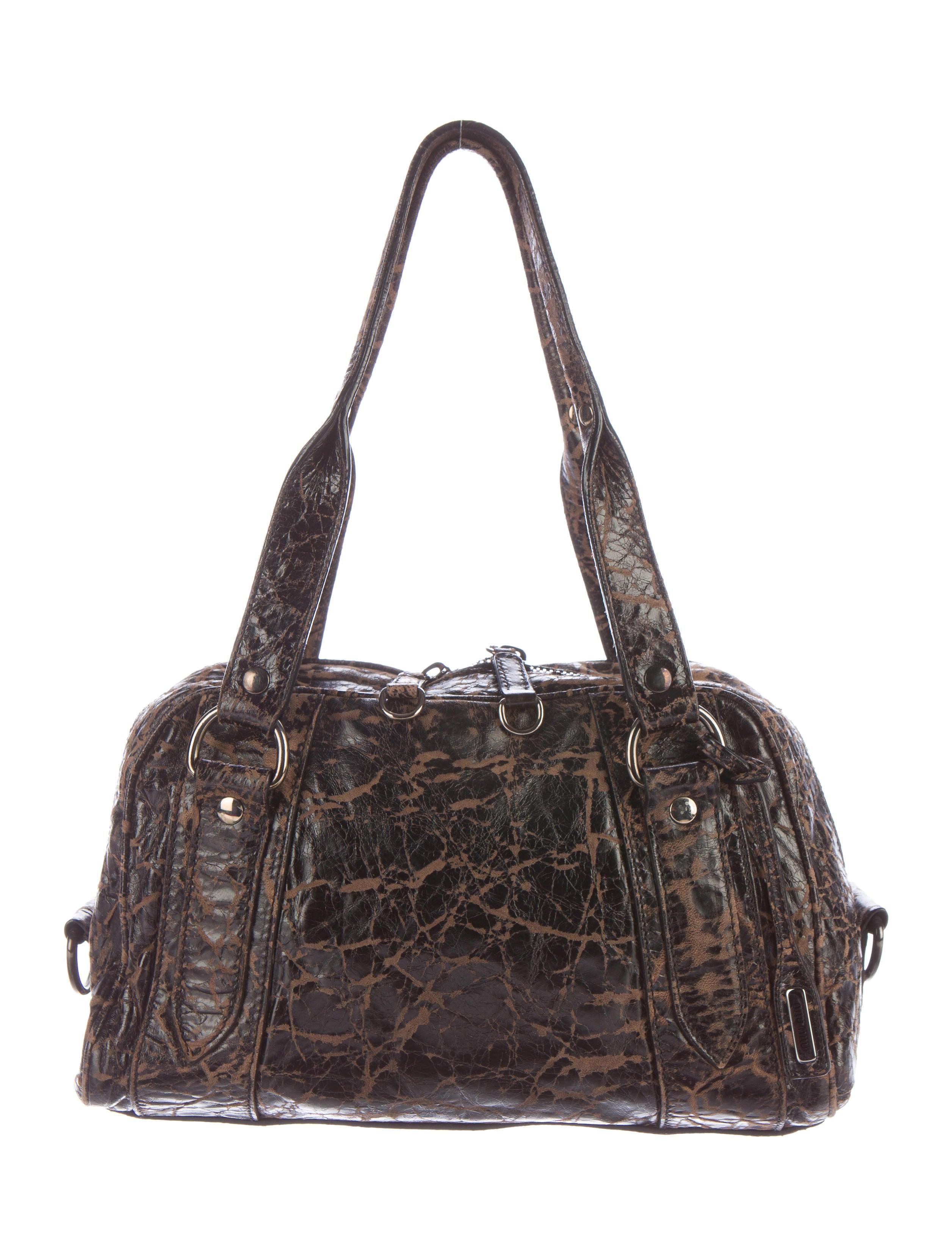Miu Miu Distressed Leather Shoulder Bag - Handbags - MIU43496  2c54f50c4ad12