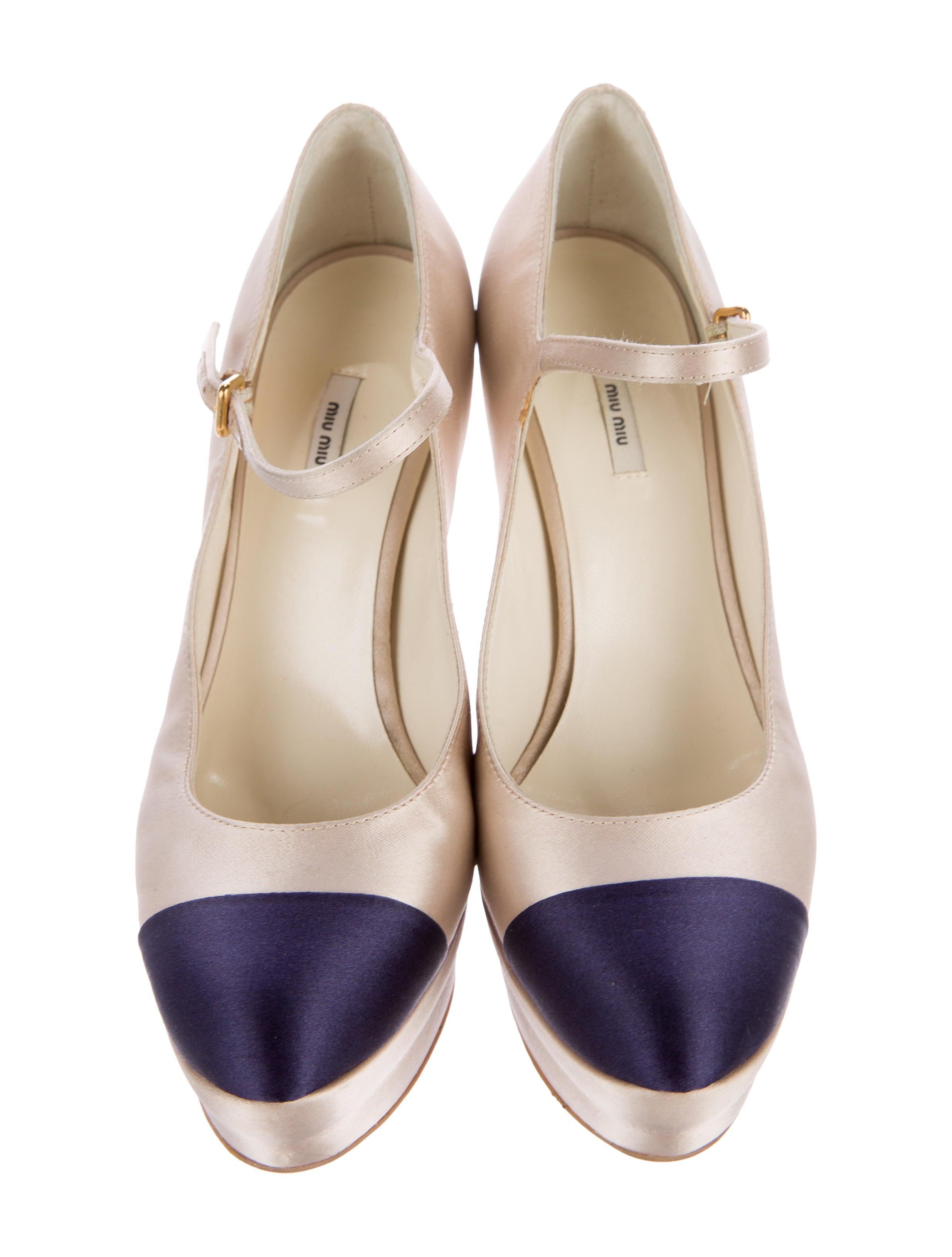 Miu Miu Mary Jane Cap-Toe Pumps - Shoes - MIU43545   The RealReal