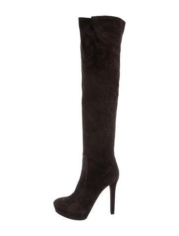 Miu Miu Suede Over-The-Knee Boots
