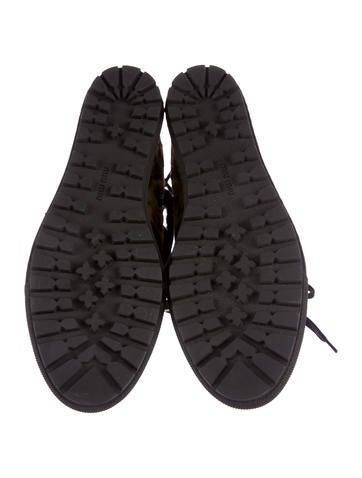 Ponyhair Studded Wedge Sneakers