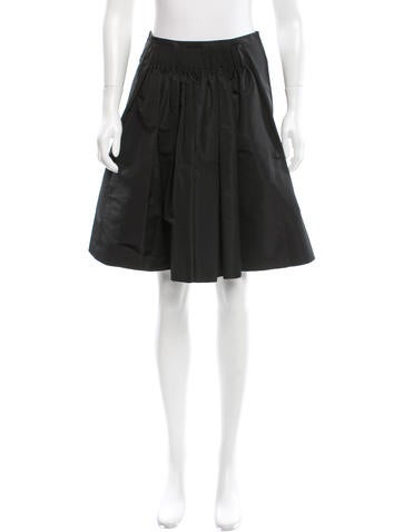 Miu Miu Ruched A-Line Skirt