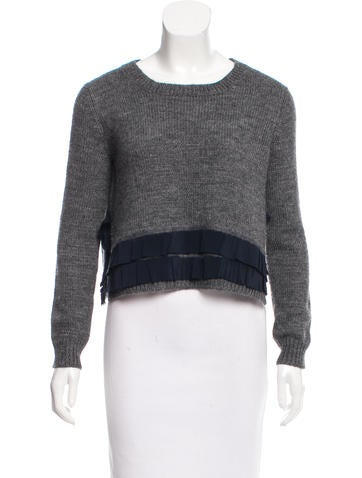 Miu Miu Silk-Trimmed Oversize Sweater None