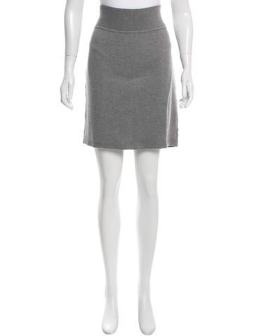 Miu Miu Knit Sheath Skirt None