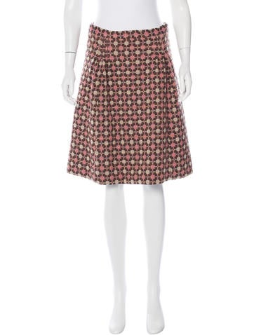 Miu Miu Tweed Knit A-Line Skirt None