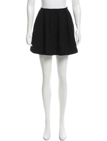 Miu Miu Wool Mini Skirt None