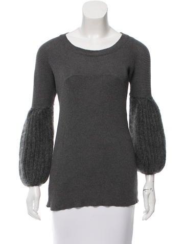 Miu Miu Mohair-Blend Sweater Tunic None