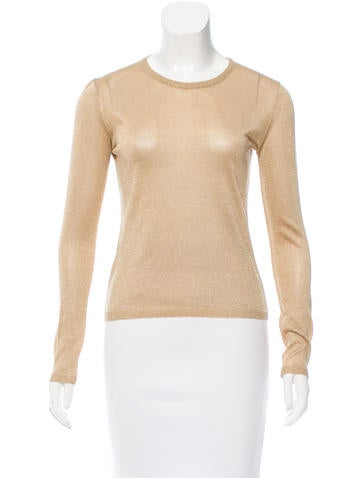 Miu Miu Metallic Knit Top None