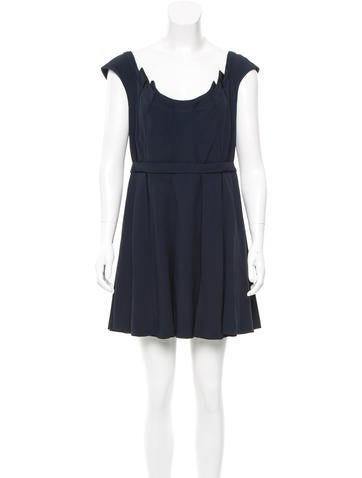 Miu Miu Pleat-Accented Mini Dress