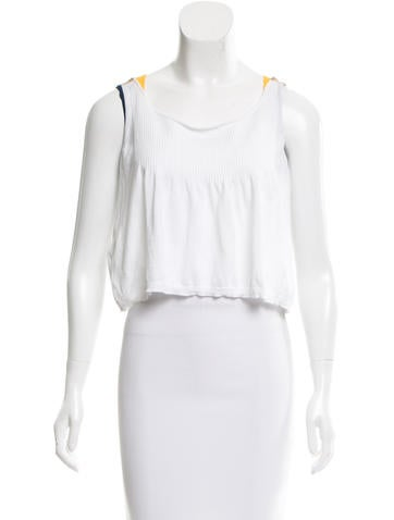 Miu Miu Sleeveless Fine Knit Top None