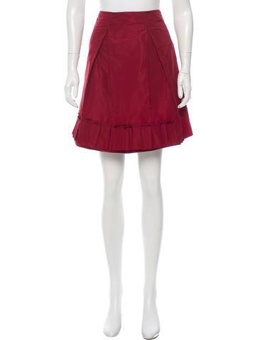 Miu Miu Pleated Mini Skirt None