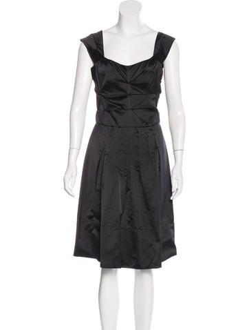 Miu Miu Silk Sleeveless Dress None