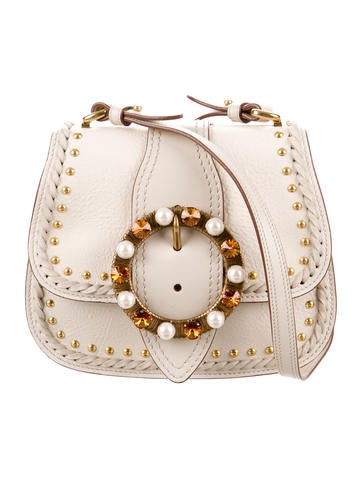 Miu Miu 2017 Embellished Lady Saddle Bag