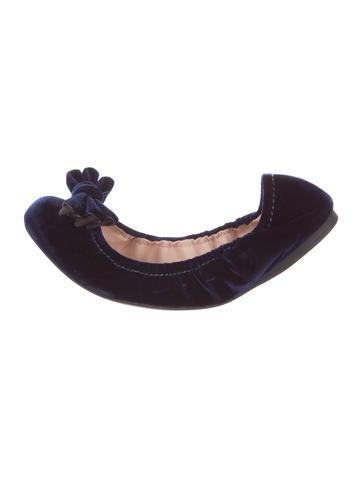 Miu Miu Velvet Bow Flats