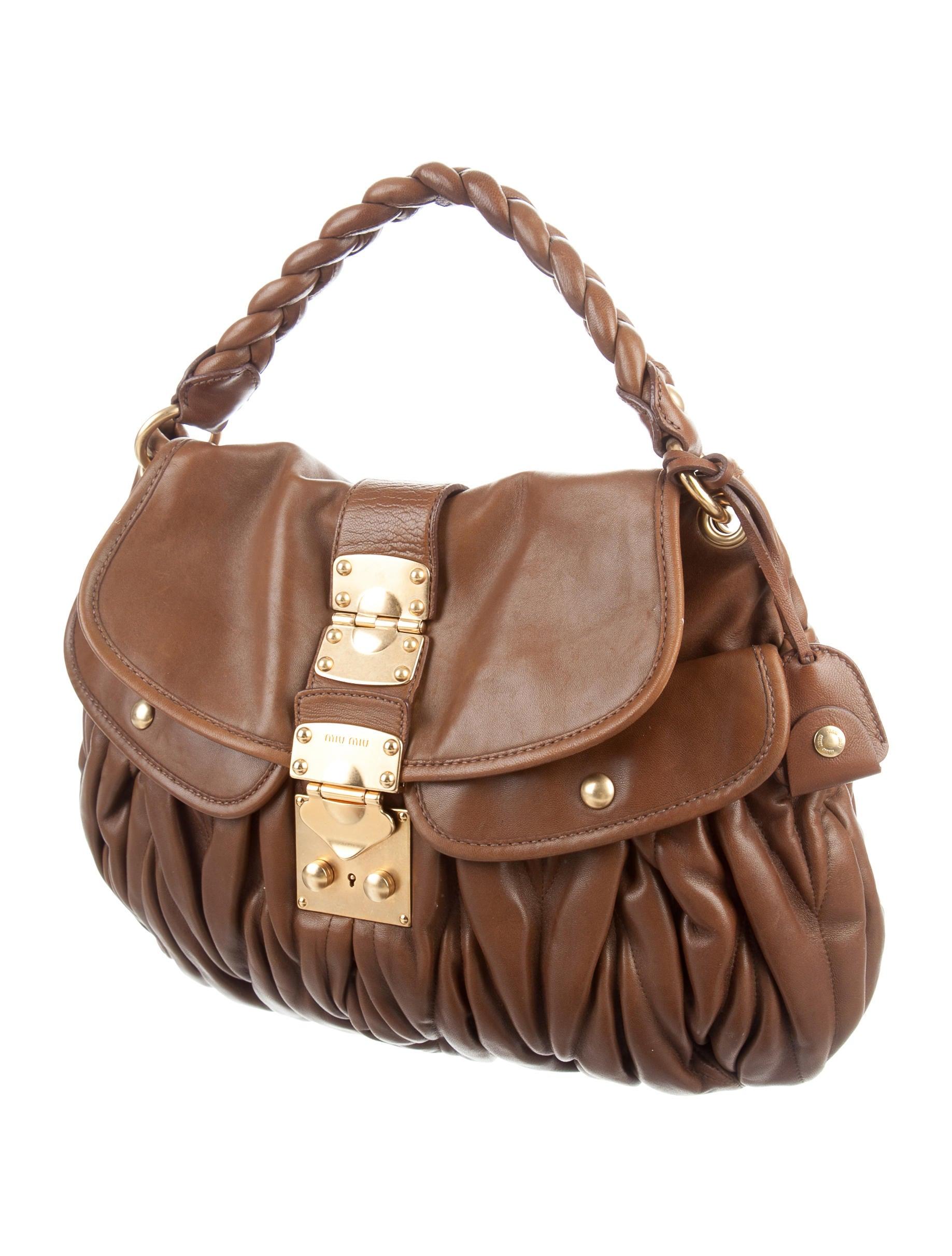 Miu Miu Leather Coffer Bag Handbags Miu45020 The