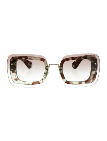 Miu Miu Reveal Square Sunglasses