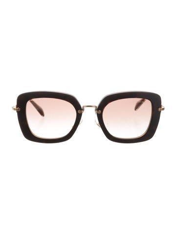 Miu Miu Tortoiseshell Cat-Eye Sunglasses