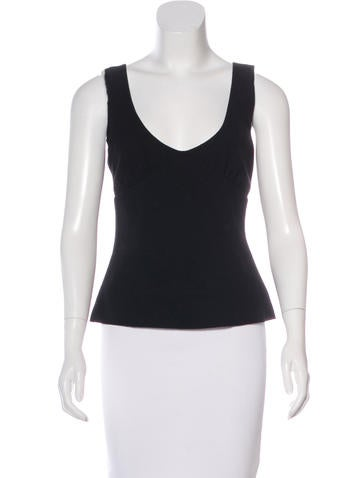 Miu Miu Wool Sleeveless Top None