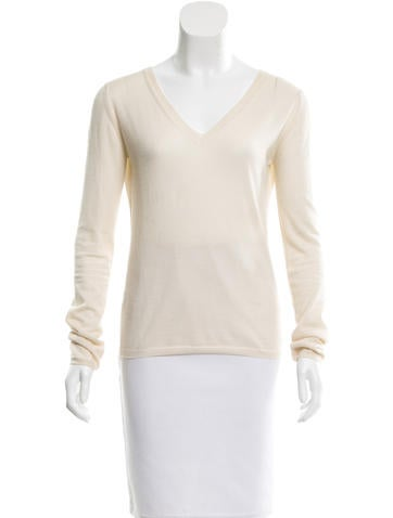 Miu Miu Knit V-Neck Top None