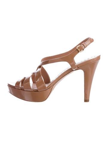 Miu Miu Patent Leather Platform Sandals w/ Tags