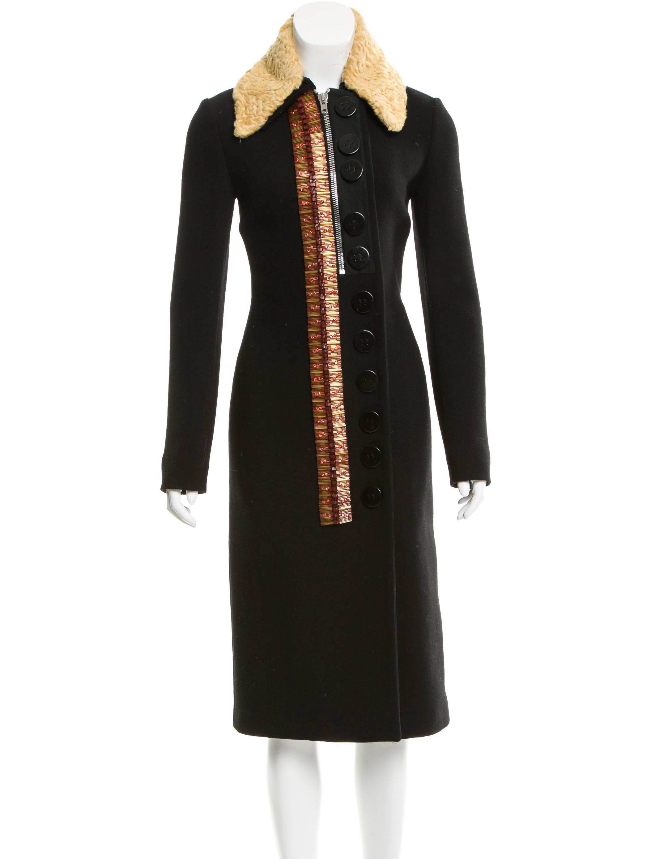 6ea9d106acc Miu Miu Wool Persian Lamb-Collared Coat - Clothing - MIU45154