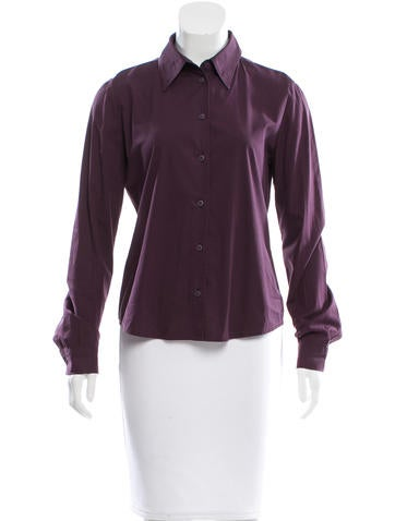 Miu Miu Long Sleeve Button-Up Top None