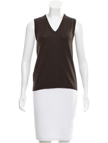 Miu Miu Wool-Blend Sweater Vest None