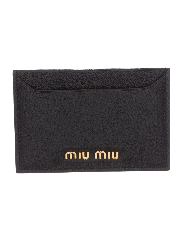 Miu Miu Madras Card Holder