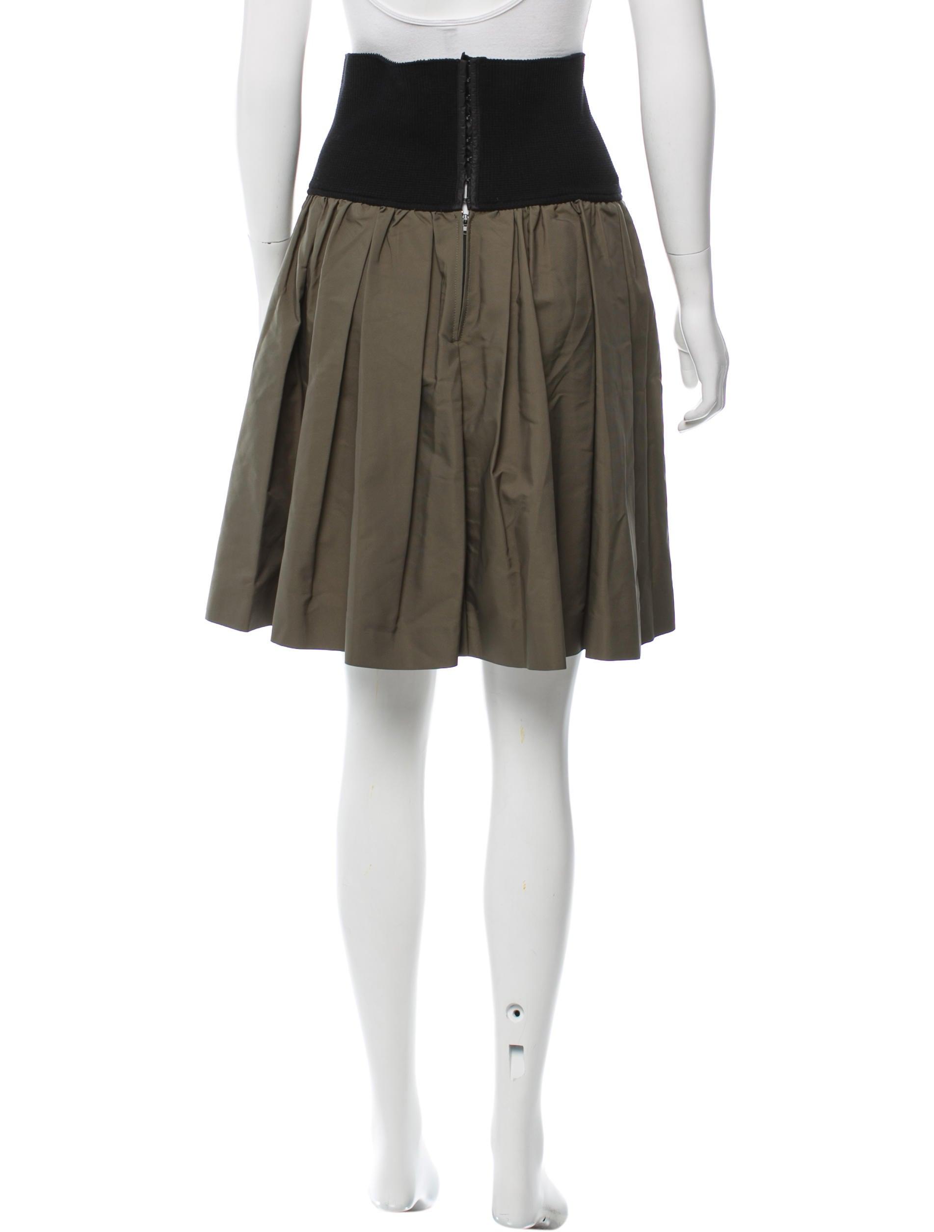 miu miu pleated knee length skirt skirts miu46070
