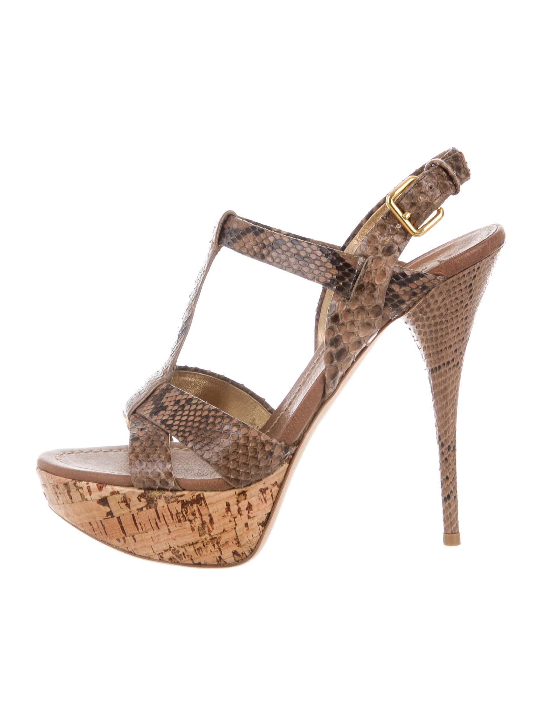 miu miu snakeskin platform sandals shoes miu46076