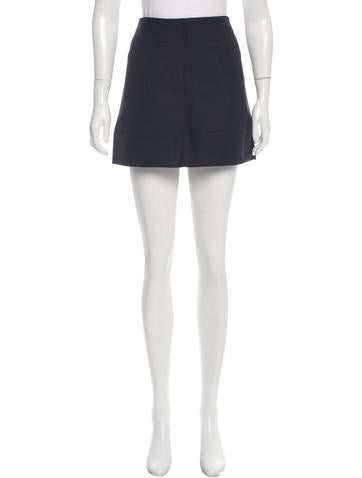 Miu Miu Wool Mini Skirt None