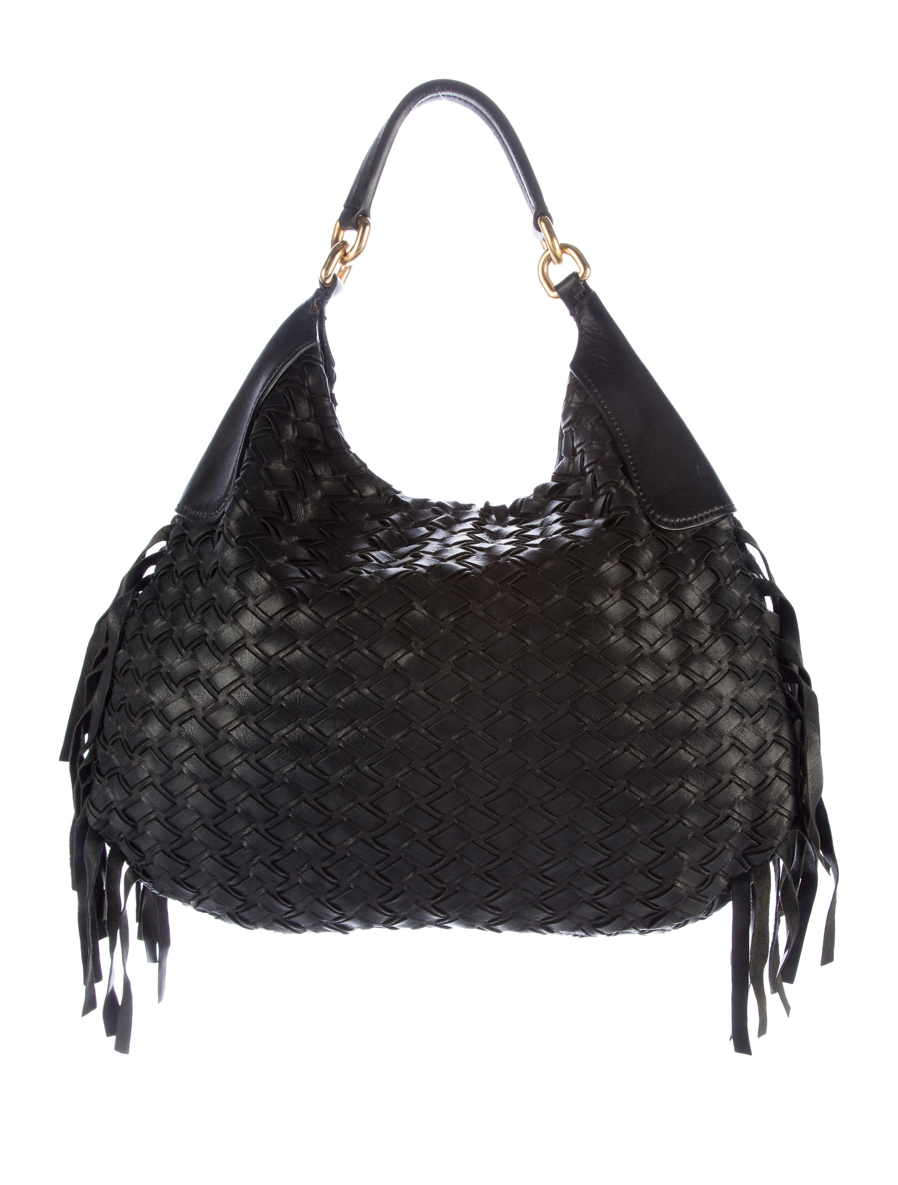 Miu Miu Leather Fringe Hobo Bag