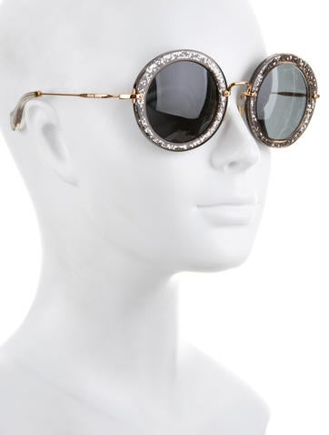 Tinted Glitter Sunglasses