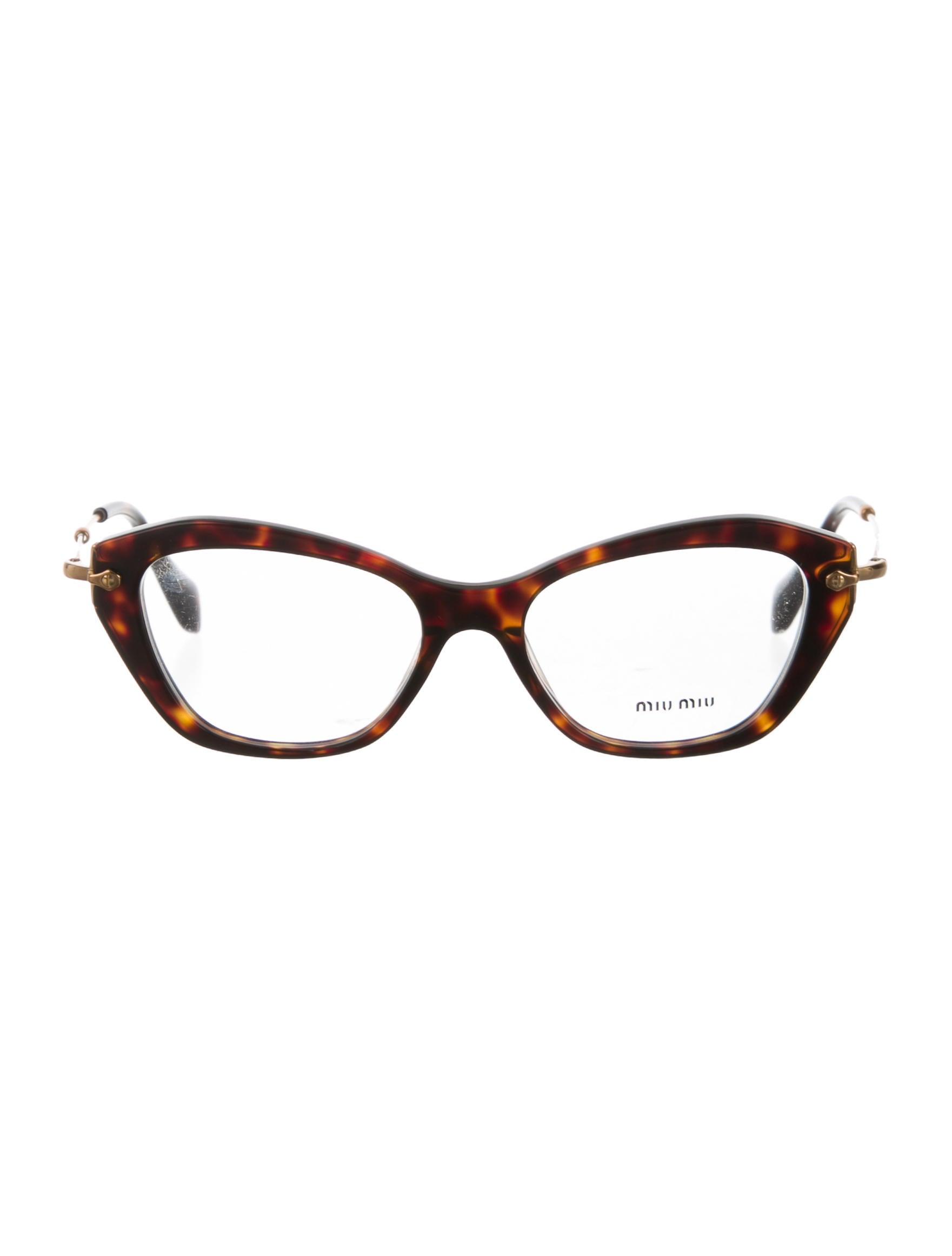miu miu tortoiseshell cat eye eyeglasses accessories