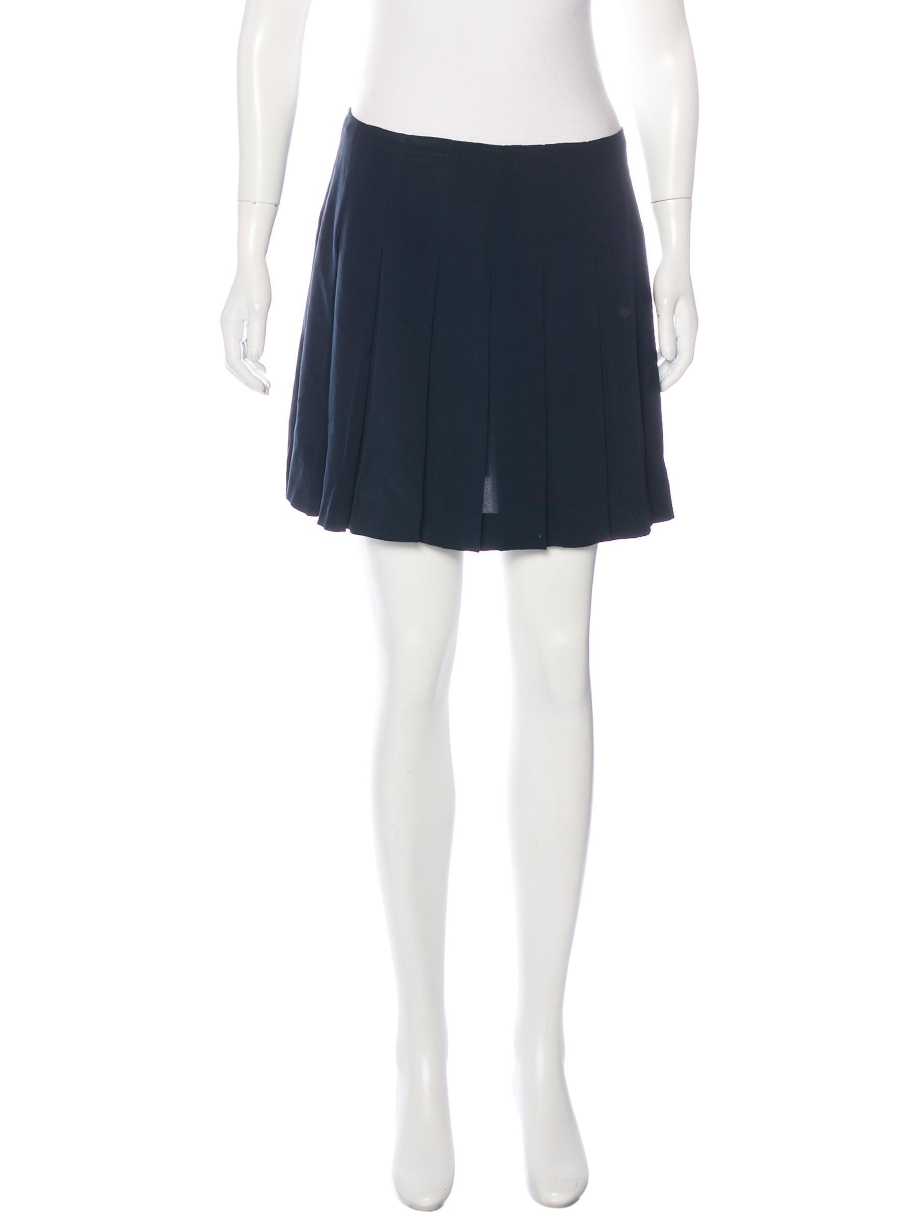 miu miu silk pleated skirt clothing miu46793 the
