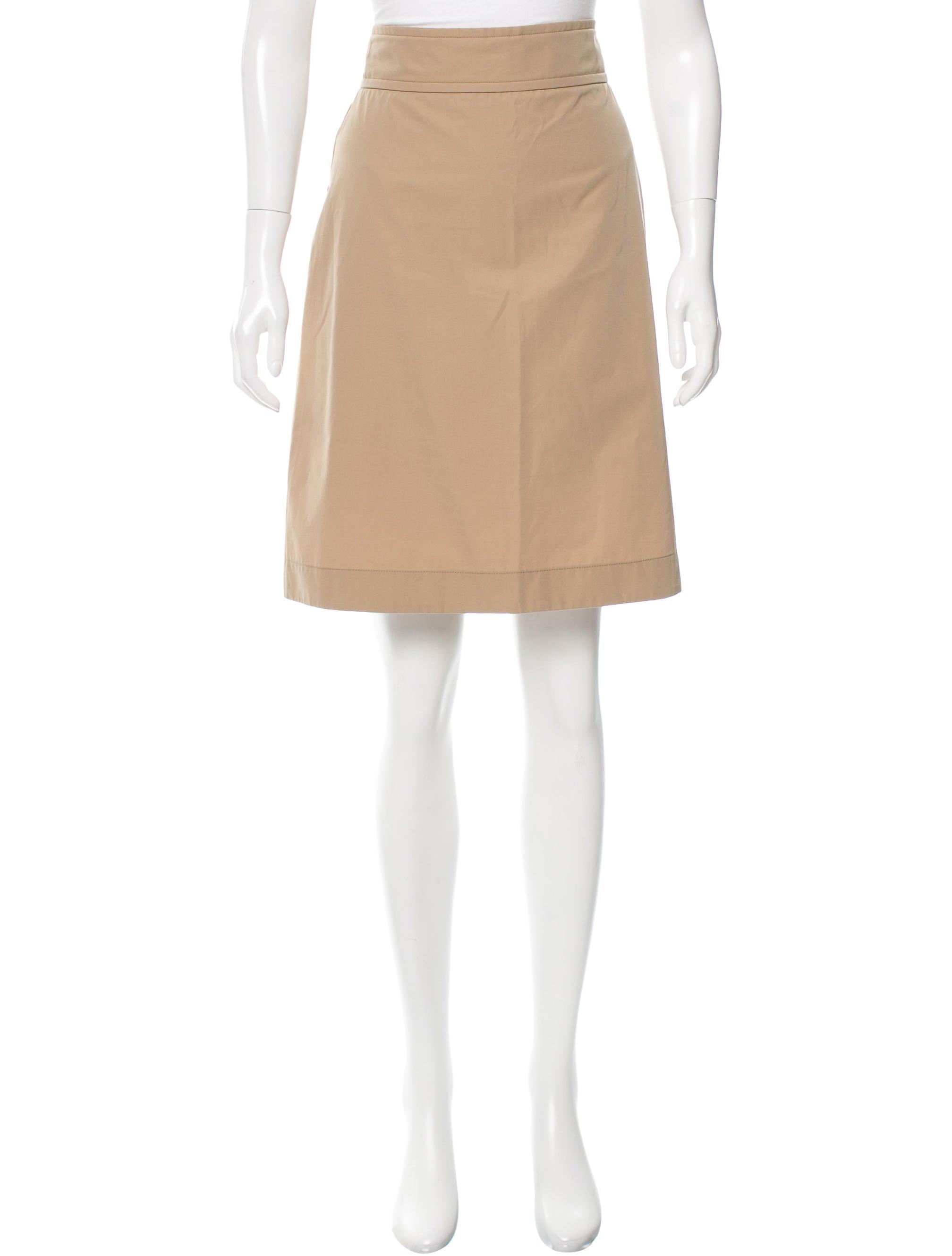 miu miu knee length a line skirt clothing miu46860