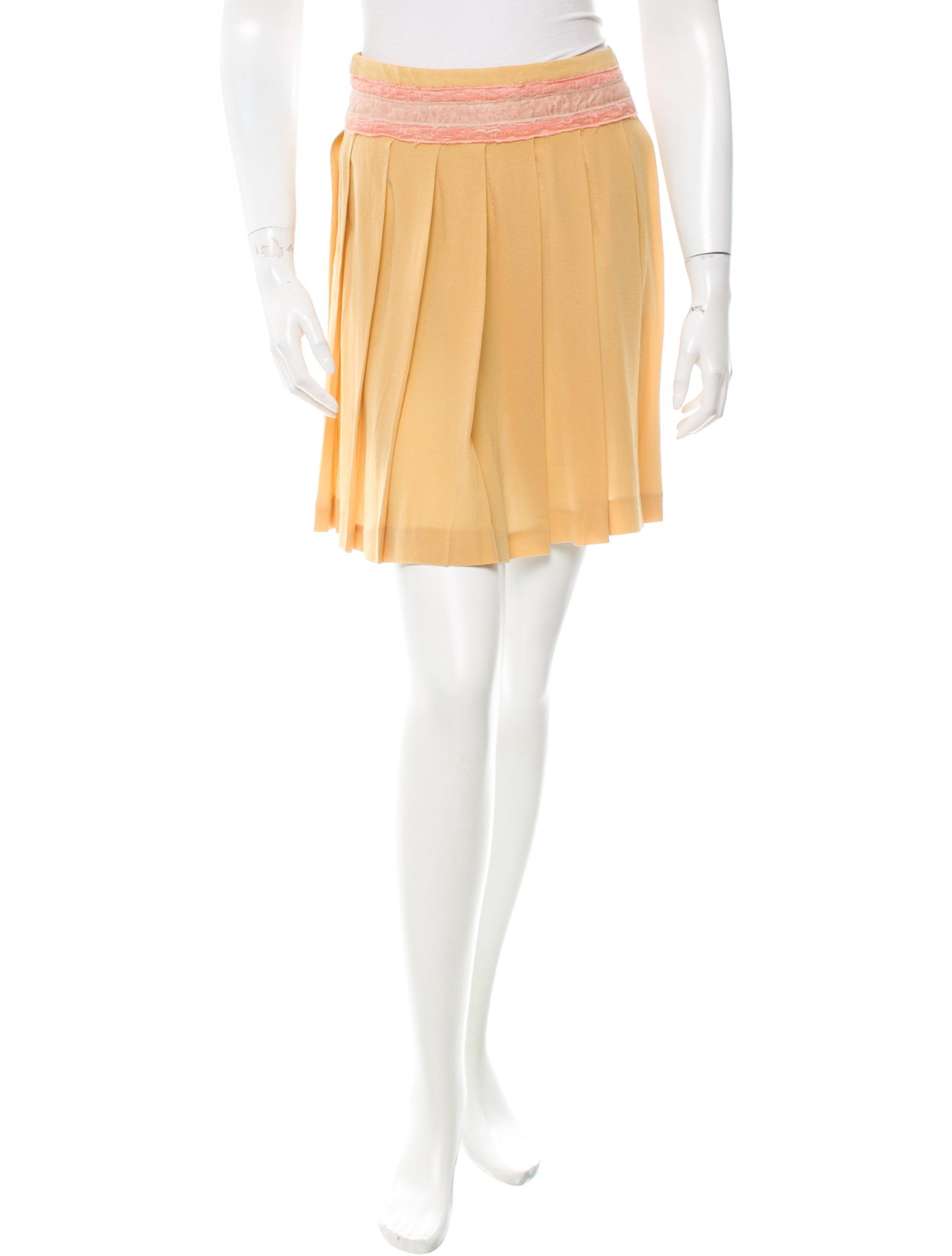miu miu silk pleated skirt clothing miu46892 the