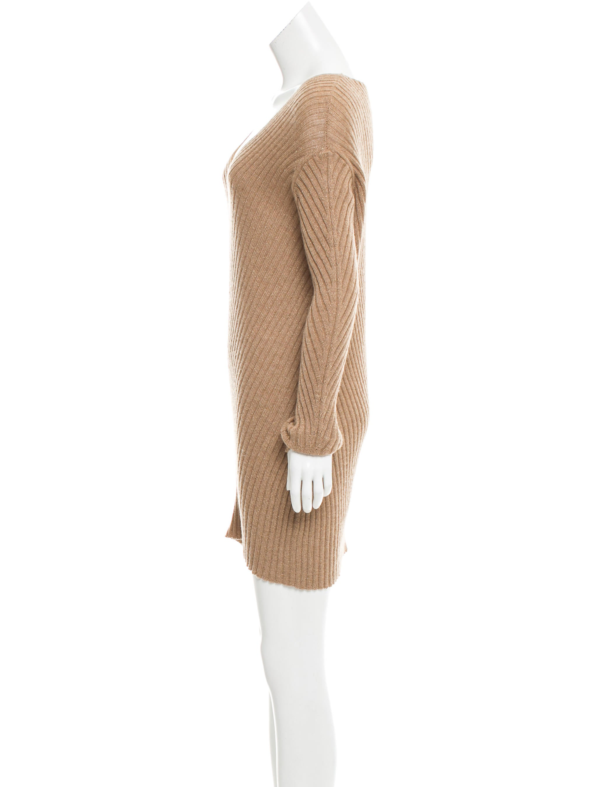 Miu Miu Rib Knit Wool Dress - Clothing - MIU47003 The RealReal